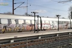 RV 2737. Hele togsætet kraftigt bemælet.