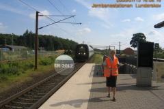 IC4748 Sønderborg (Sdb) - Hgl med ER 2012. Damen i forgrrunden er en af DSB's informatører som fandtes på stationen denne dag
